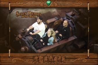 Riding Mine Train at Disney's Magic Kingdom